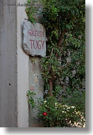 croatia, europe, groznjan, ivy, signs, togy, vertical, photograph