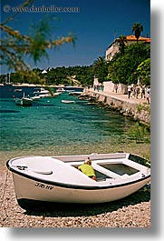 beached, boats, croatia, europe, hvar, ocean, vertical, water, photograph
