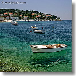 boats, croatia, europe, hvar, shadows, square format, water, photograph