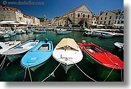 boats, croatia, europe, harbor, horizontal, hvar, towns, photograph
