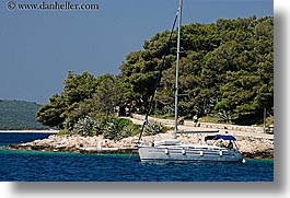 boats, croatia, europe, horizontal, hvar, ocean, paths, sailboats, walking, water, photograph