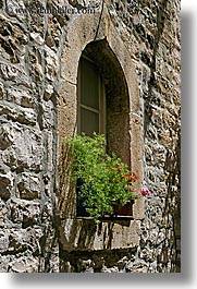 croatia, europe, hvar, stones, vertical, windows, photograph