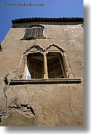 croatia, europe, hvar, venetian, vertical, windows, photograph