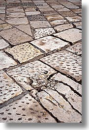croatia, europe, hvar, marble, sidewalks, vertical, photograph