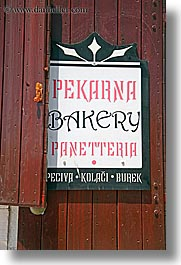 bakery, croatia, europe, hvar, pekarna, signs, vertical, photograph