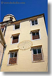 croatia, europe, hvar, sundial, vertical, windows, photograph