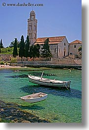 boats, croatia, europe, franciscan, hvar, monastery, monestaries, scenics, vertical, water, photograph