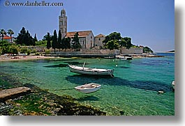 boats, croatia, europe, franciscan, horizontal, hvar, monastery, monestaries, scenics, water, photograph
