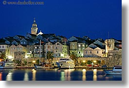 boats, cityscapes, croatia, europe, harbor, horizontal, korcula, long exposure, nite, towns, water, photograph