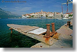 cityscapes, croatia, dock, europe, horizontal, korcula, townview, water, photograph