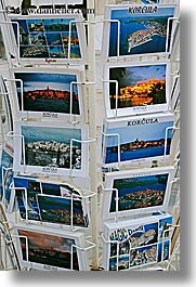 croatia, europe, korcula, postcards, vertical, photograph