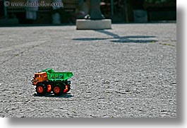 croatia, europe, horizontal, korcula, toys, trucks, photograph