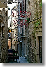 cafes, croatia, europe, korcula, marco polo, narrow streets, vertical, photograph