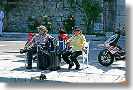 asian, bikers, couples, croatia, europe, horizontal, korcula, people, photograph