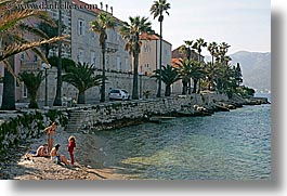 beaches, croatia, europe, girls, horizontal, korcula, people, photograph