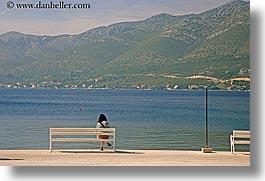 alone, croatia, europe, horizontal, korcula, people, womens, photograph