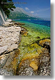 croatia, europe, from, korcula, ocean, scenics, vertical, views, walls, photograph