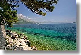 croatia, europe, from, horizontal, korcula, ocean, scenics, views, walls, photograph