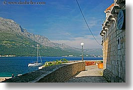 croatia, europe, horizontal, korcula, ocean, scenics, sidewalks, photograph