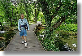boardwalk, croatia, europe, forests, hikers, horizontal, krka, slow exposure, photograph
