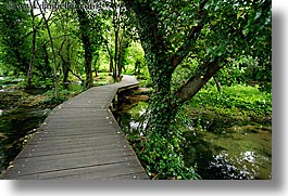 boardwalk, croatia, europe, forests, horizontal, krka, slow exposure, photograph