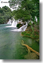 croatia, europe, krka, slow exposure, vertical, waterfalls, photograph