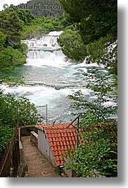 croatia, europe, krka, vertical, waterfalls, photograph