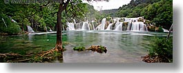 croatia, europe, horizontal, krka, panoramic, slow exposure, waterfalls, photograph