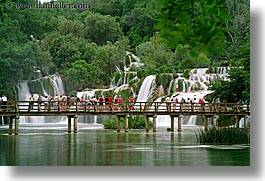 croatia, crowds, europe, horizontal, krka, long exposure, waterfalls, photograph