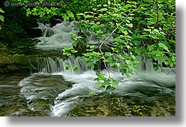 croatia, europe, horizontal, krka, leaves, slow exposure, stream, photograph