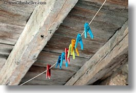 clothespins, colorful, croatia, europe, horizontal, lubenice, photograph