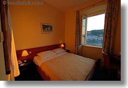 apoksiomen hotel, bedrooms, croatia, europe, horizontal, mali losinj, views, windows, photograph