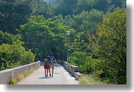 couples, croatia, europe, hiking, horizontal, mali losinj, trees, photograph