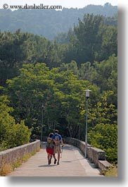 couples, croatia, europe, hiking, mali losinj, trees, vertical, photograph