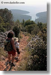croatia, europe, hikers, hiking, landscapes, mali losinj, ocean, vertical, views, photograph