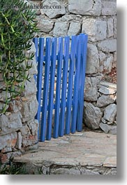 blues, croatia, europe, gates, mali losinj, vertical, photograph