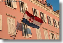croatia, croatian, europe, flags, horizontal, mali losinj, photograph