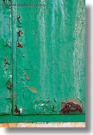 croatia, doors, europe, green, mali losinj, metal, rusty, vertical, photograph