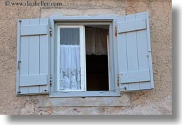 croatia, curtains, europe, horizontal, lace, mali losinj, windows, photograph