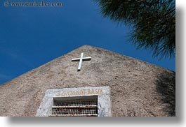 churches, croatia, europe, horizontal, mali losinj, perspective, small, upview, photograph