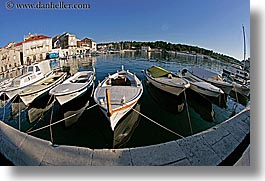 boats, croatia, europe, fisheye, fisheye lens, horizontal, milna, water, photograph