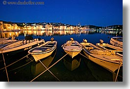 boats, croatia, europe, horizontal, long exposure, milna, nite, towns, water, photograph