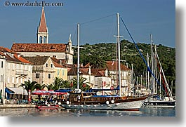 boats, croatia, europe, horizontal, milna, nostalgija, towns, water, photograph