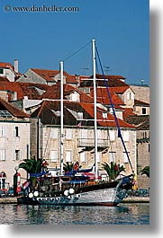 boats, croatia, europe, milna, nostalgija, towns, vertical, water, photograph