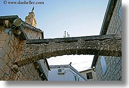arches, archways, buildings, croatia, europe, high, horizontal, milna, photograph