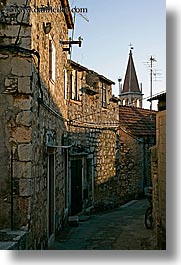 croatia, europe, milna, side, streets, towns, vertical, photograph