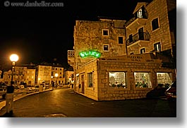 buildings, croatia, europe, horizontal, milna, nite, pizzaria, pizzeria, restaurants, slika, slow exposure, towns, photograph