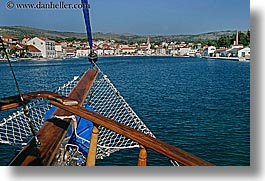 boats, croatia, europe, from, horizontal, milna, towns, views, water, photograph