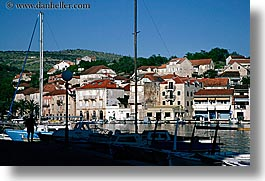 boats, croatia, europe, horizontal, milna, towns, views, water, photograph
