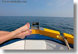 boats, croatia, europe, feet, horizontal, photograph